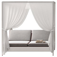 White 2-Seat Daybed with Canopy