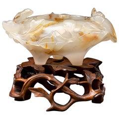 White Agate Decorative Bowl