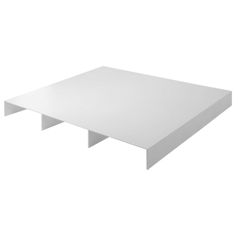 White Aluminum Bed Platform by Lenka Ilic For Sale