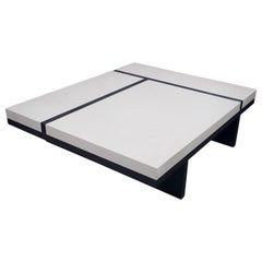White and Black Coffee Table by Pierre Bonnefille