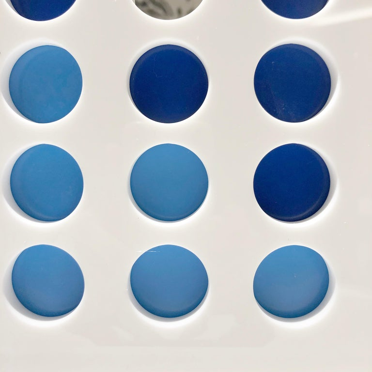 American White and Blue Acrylic Connect Four Game