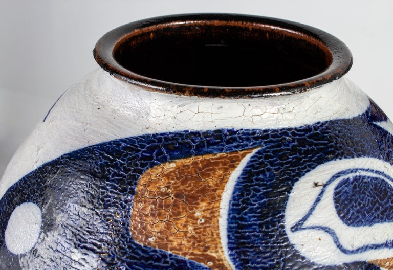 North American White and Blue Pottery For Sale