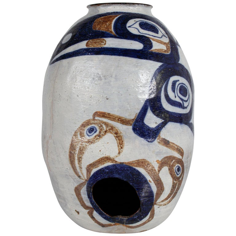 White and Blue Pottery For Sale