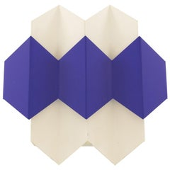White and Blue Septet Wall Lamp by Bent Karlby for Lyfa, 1960s