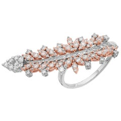White and Fancy Colour Natural Pink Diamond Ring by Designer Yessayan
