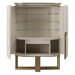 White and Gold Buffet Cabinet