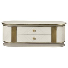 White and Gold Media Cabinet