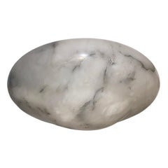 White and Gray Alabaster Pendant Fixture