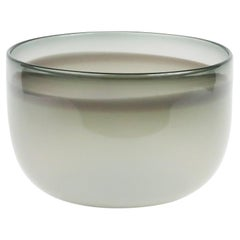 White and Gray Studio Glass Bowl by Guggisberg Baldwin