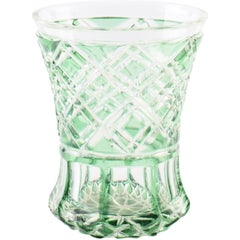White and Green Glass, Northern Europe Manufacture, 1970