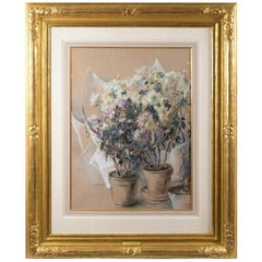 White and Pink Asters by Elizabeth Nourse