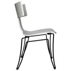 White Anziano Chairs by John Hutton for Donghia