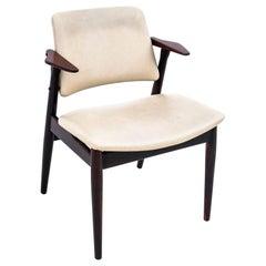 White Armchair, Danish Design, 1960s