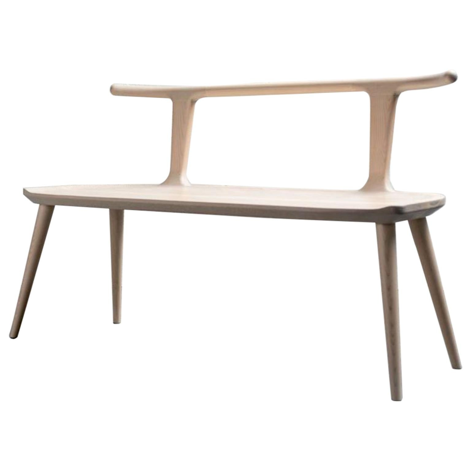 White Ash Oxbend Bench by Fernweh Woodworking
