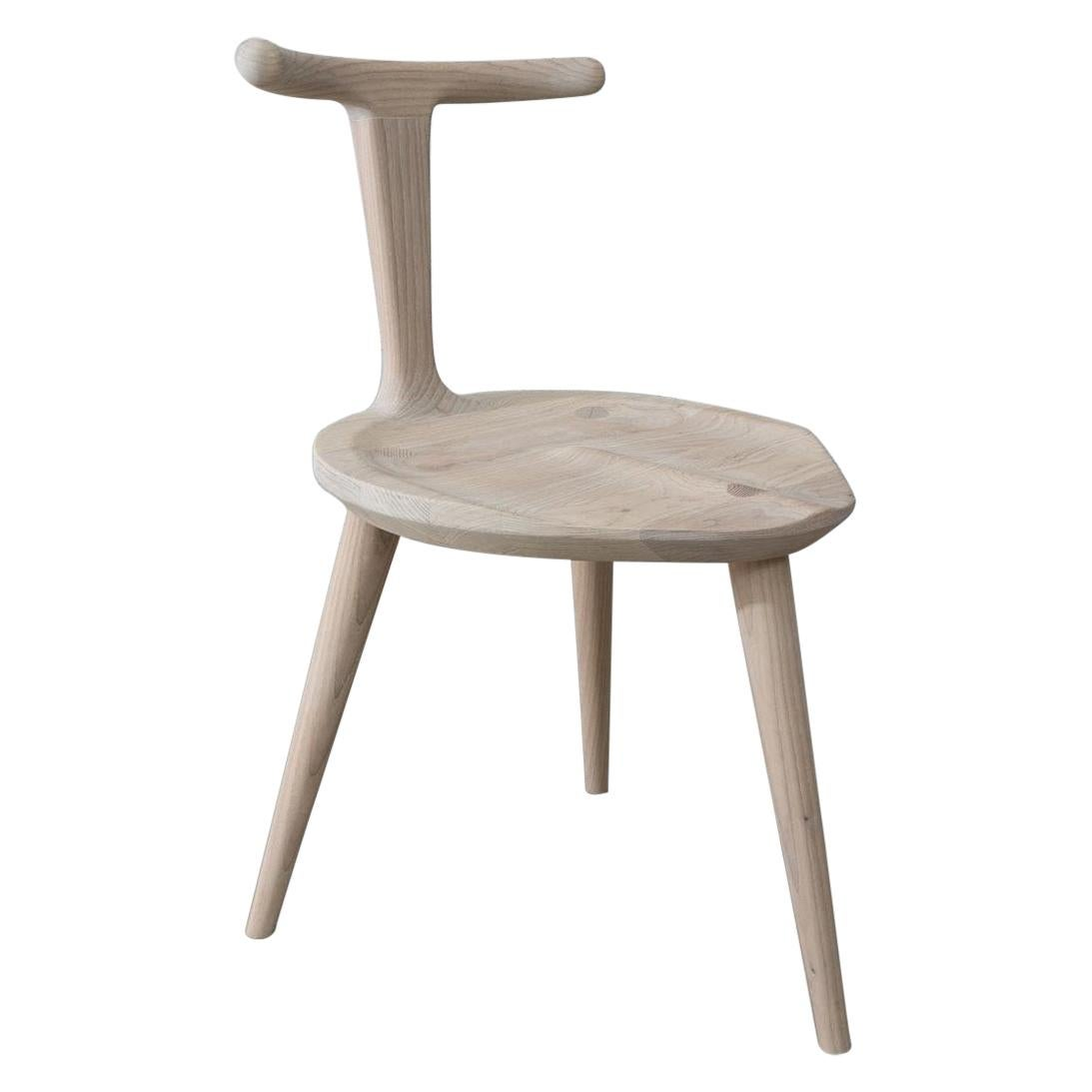 White Ash Oxbend Chair 3 Legs by Fernweh Woodworking