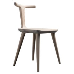 White Ash Oxbend Chair by Fernweh Woodworking