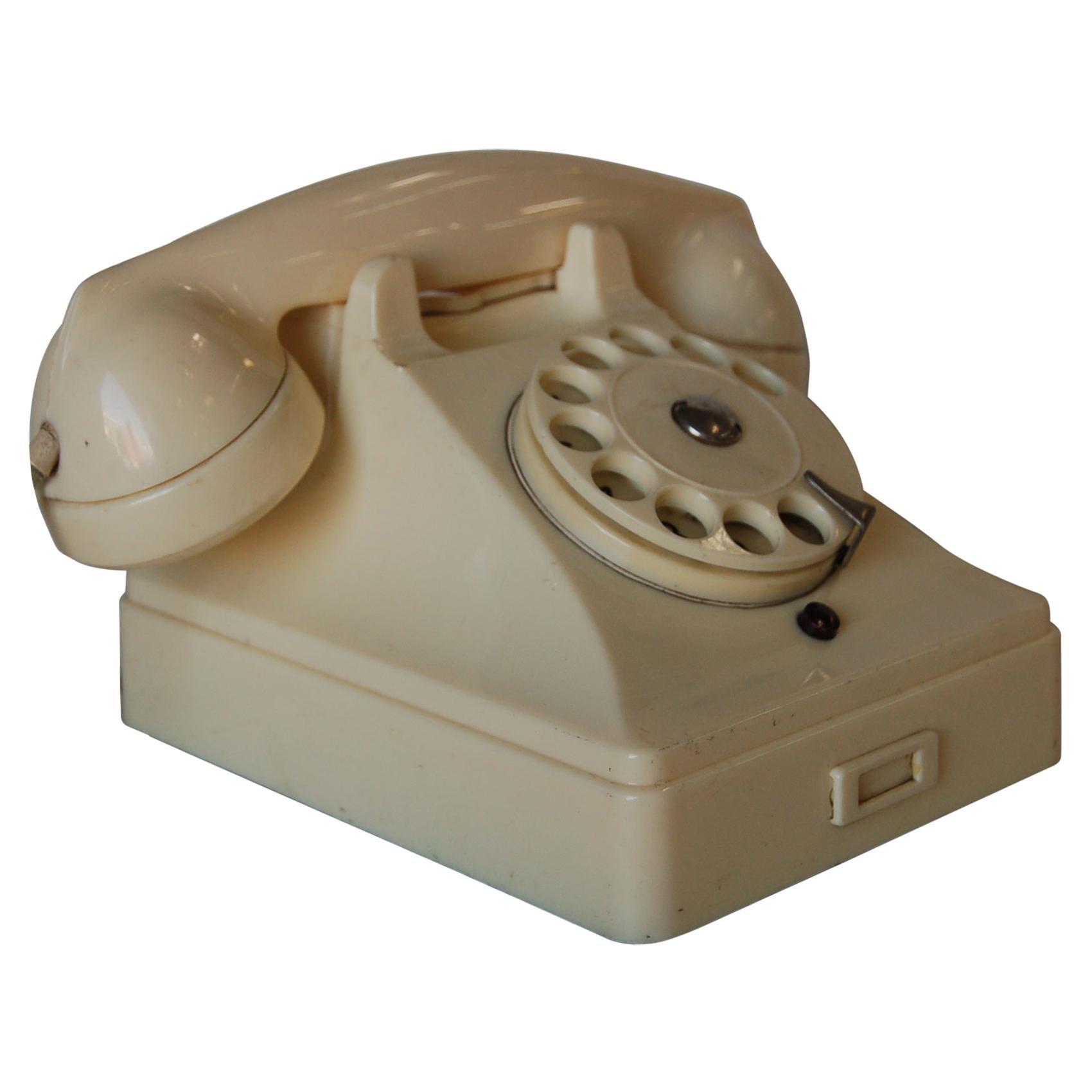 White Bakelite PTT Telephone by Ericsson