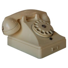 White Bakelite PTT Telephone by Ericsson