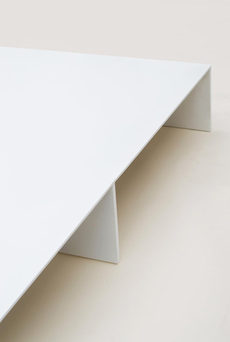 Minimalist White Aluminum Bed Platform by Lenka Ilic For Sale