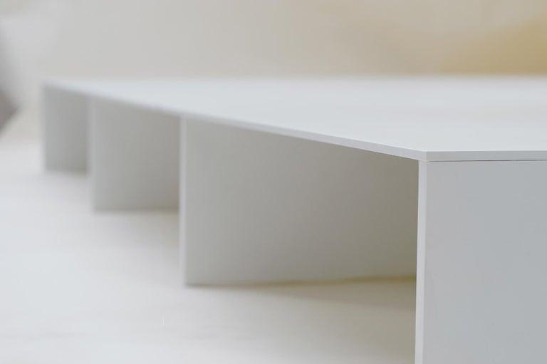American White Aluminum Bed Platform by Lenka Ilic For Sale