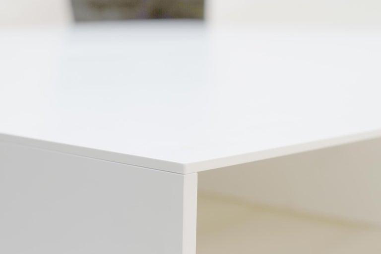 Powder-Coated White Aluminum Bed Platform by Lenka Ilic For Sale