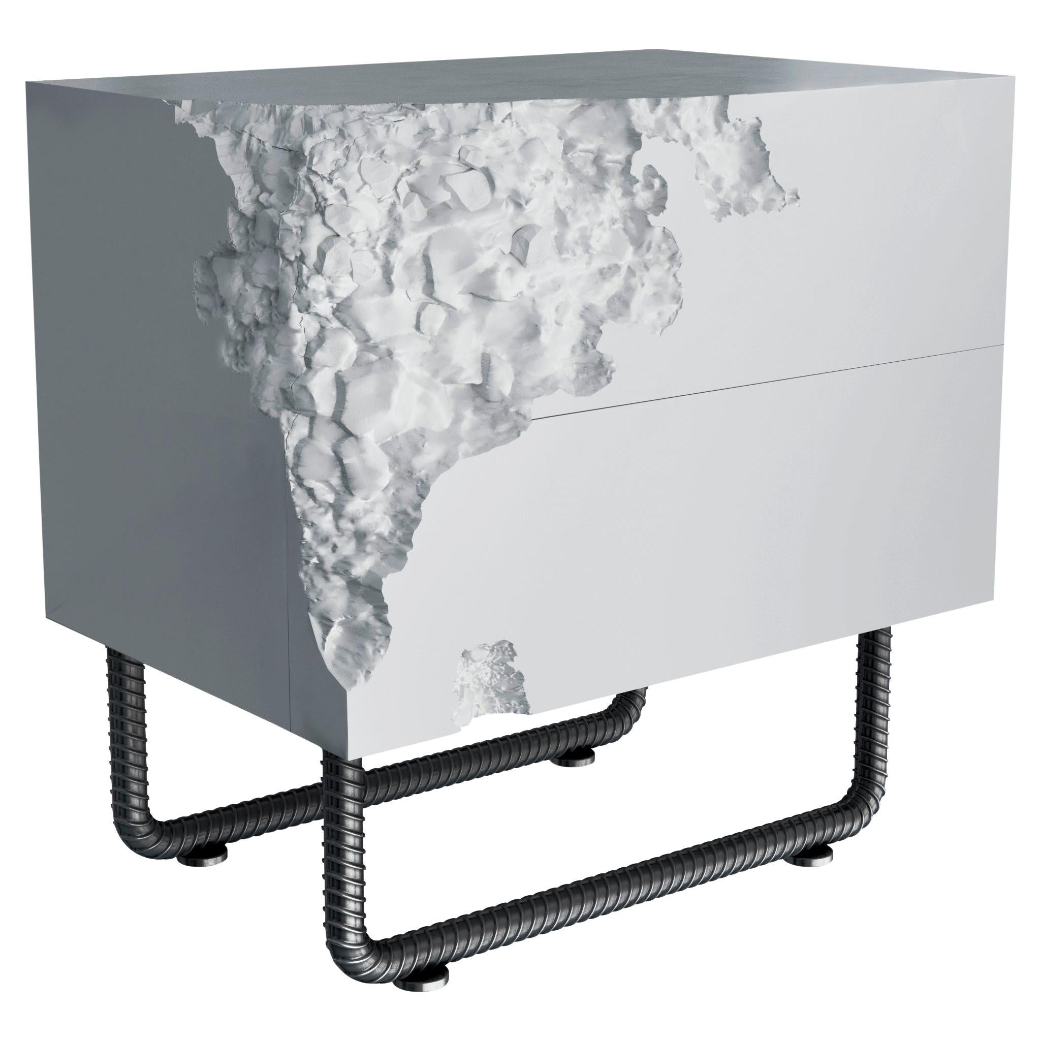 White Bedside Table Breakfree Collection, Perfect Item for Your Bedroom Space