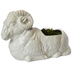 White Bellini Ceramic Ram