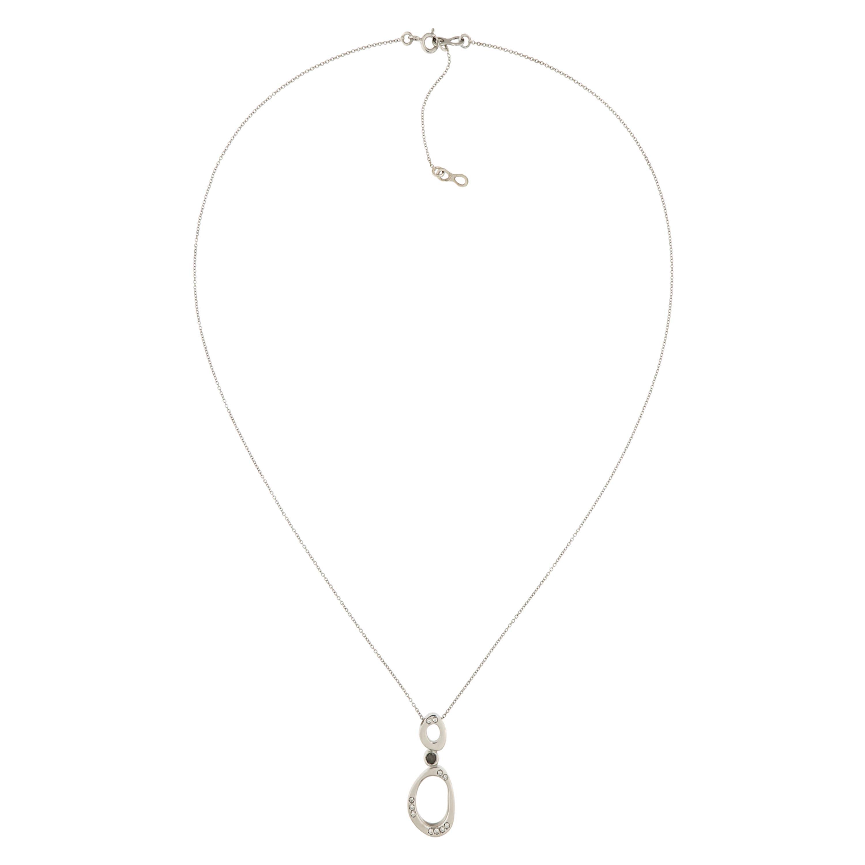 White Black Diamonds Gold Pendant Necklace Handcrafted in Italy, Botta Gioielli