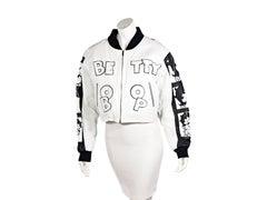 White & Black Vintage Montana Toons Betty Boop Jacket