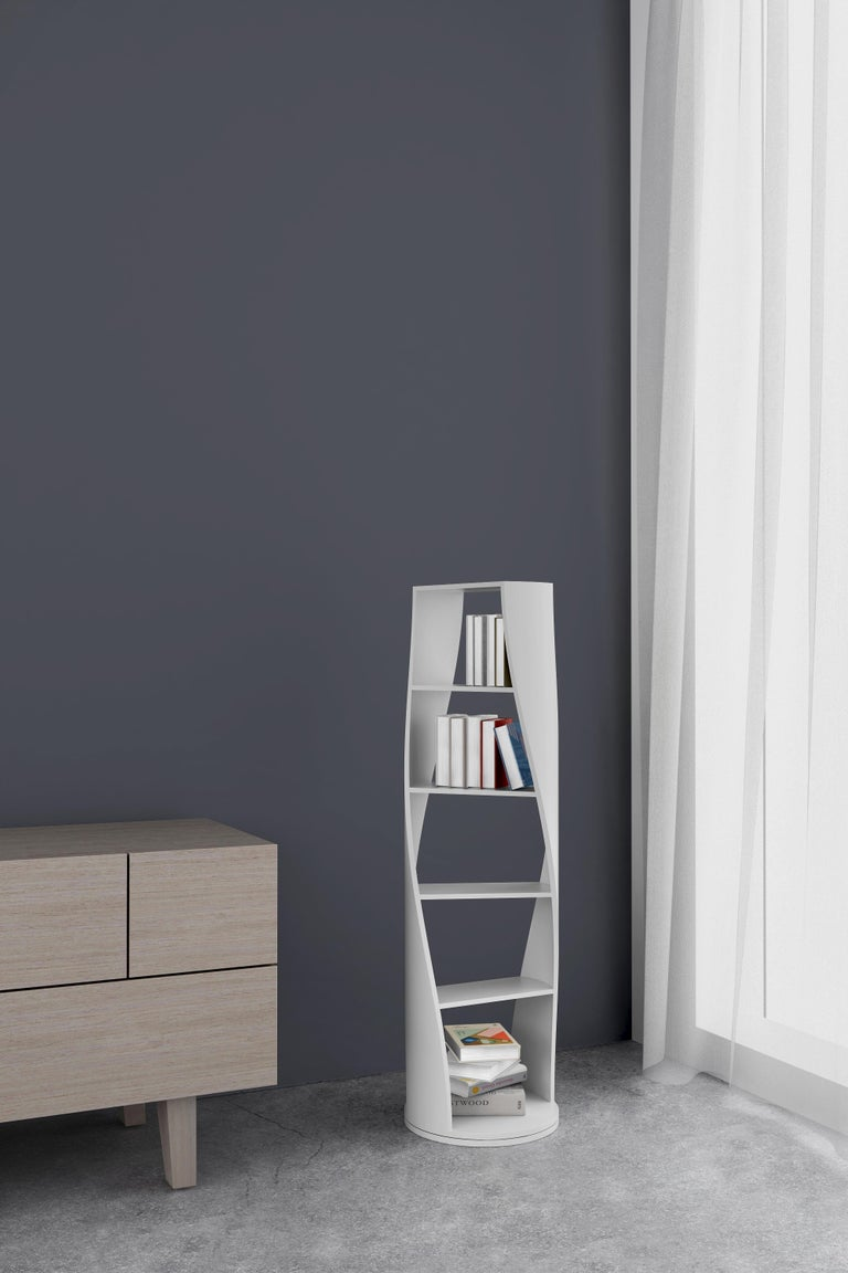 White Bookcase and Storage System: MYDNA Collection by Joel Escalona For Sale 1