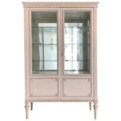 White Bookcase or Vitrine Cabinet from 1935