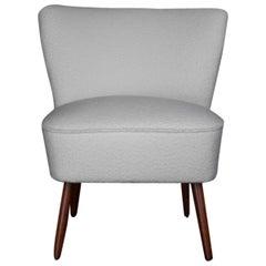 White Boucle Cozy Club Chair
