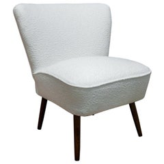 White Boucle Cozy Club Chair