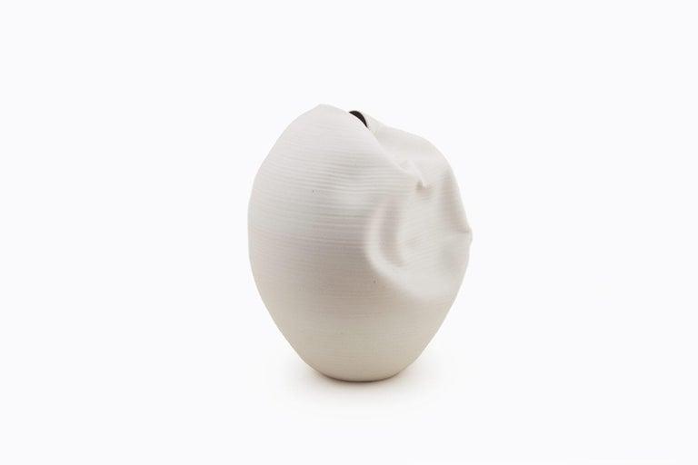 White Breath, Ceramic Vase, Interior Sculpture or Vessel, Objet D'art For Sale 1