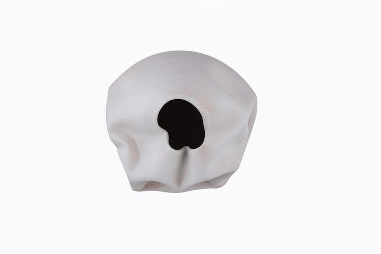 White Breath, Ceramic Vase, Interior Sculpture or Vessel, Objet D'art For Sale 4