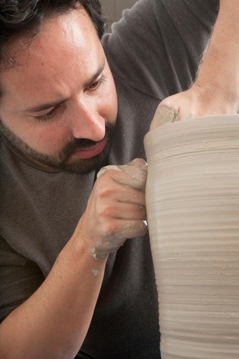 White Breath, Ceramic Vase, Interior Sculpture or Vessel, Objet D'art For Sale 5