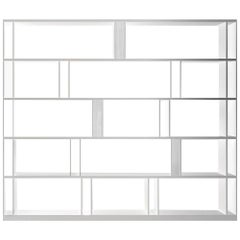 In Stock in Los Angeles, White Brera Bookcase, by Lievore Altherr Molina