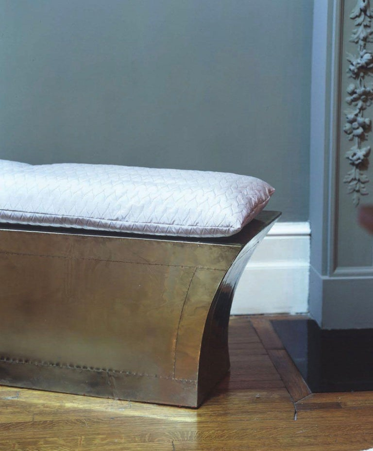 Excellent White Bronze Clad Vaisseau Storage Bench Alphanode Cool Chair Designs And Ideas Alphanodeonline