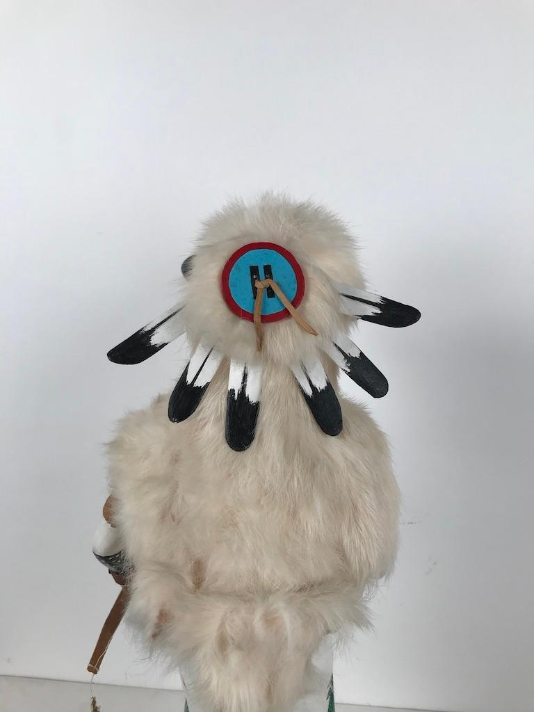 White Buffalo Kachina Doll Hand Carved Signed by Artist For Sale 4