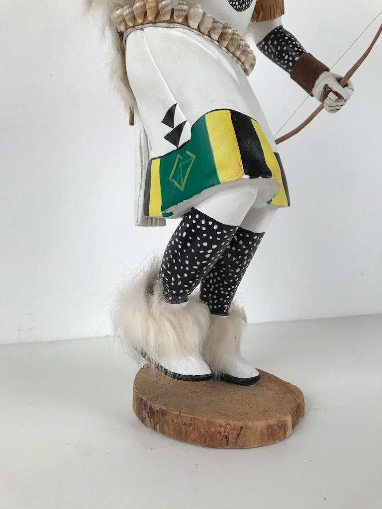 White Buffalo Kachina Doll Hand Carved Signed by Artist For Sale 7