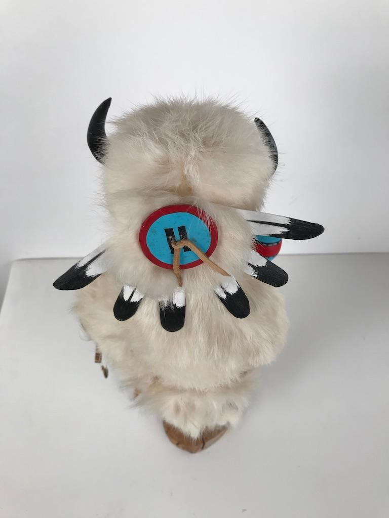 White Buffalo Kachina Doll Hand Carved Signed by Artist For Sale 10