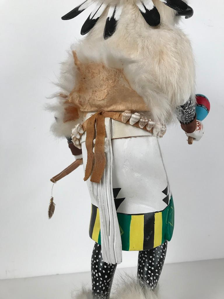 White Buffalo Kachina Doll Hand Carved Signed by Artist For Sale 11