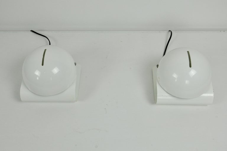Mid-Century Modern White Bugia Table Lamps by Giuseppe Cormio for IGuzzini, 1970s