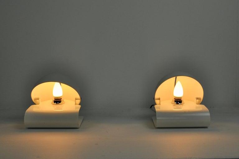 Italian White Bugia Table Lamps by Giuseppe Cormio for IGuzzini, 1970s