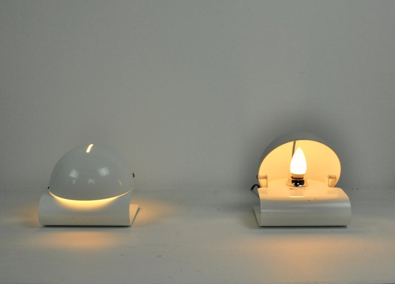 White Bugia Table Lamps by Giuseppe Cormio for IGuzzini, 1970s In Good Condition In Lasne, BE