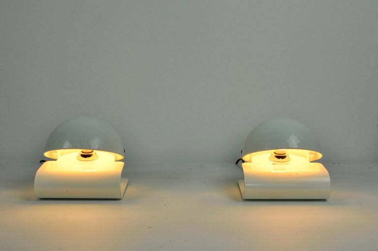 Late 20th Century White Bugia Table Lamps by Giuseppe Cormio for IGuzzini, 1970s