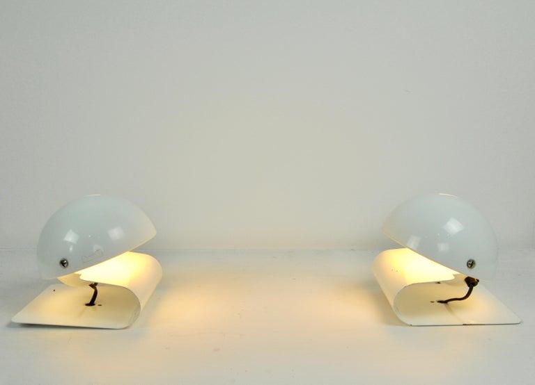 Metal White Bugia Table Lamps by Giuseppe Cormio for IGuzzini, 1970s