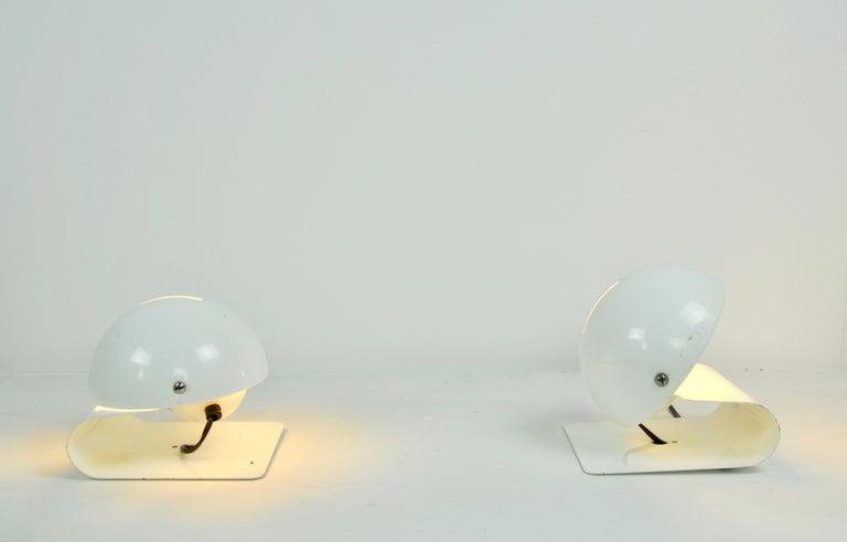White Bugia Table Lamps by Giuseppe Cormio for IGuzzini, 1970s 1