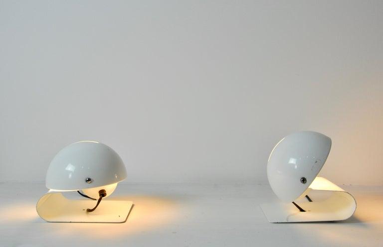 White Bugia Table Lamps by Giuseppe Cormio for IGuzzini, 1970s 2
