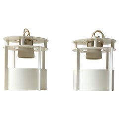White Built on/in Ceiling Lights by Vilhelm Wohlert for Louis Poulsen, Set of 2